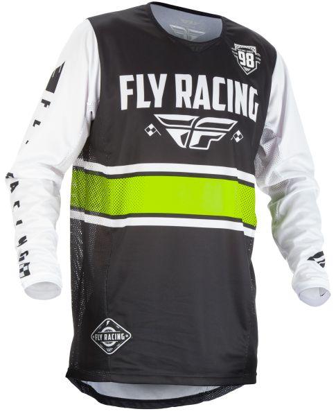 Tricou ciclism FLY KINETIC culoare negru/alb, marime L 0