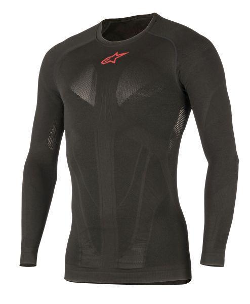 Tricou termoactiv ALPINESTARS MX TECH culoare negru/rosu, marime L/M maneca lunga 0