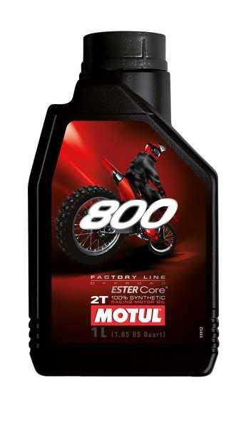 Ulei moto 2T MOTUL 800 Factory Line Off Road 1l JASO FD ester sintetic 0