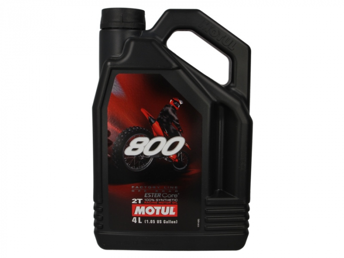 Ulei moto 2T MOTUL 800 Factory Line Off Road 4l  JASO FD ester sintetic 0