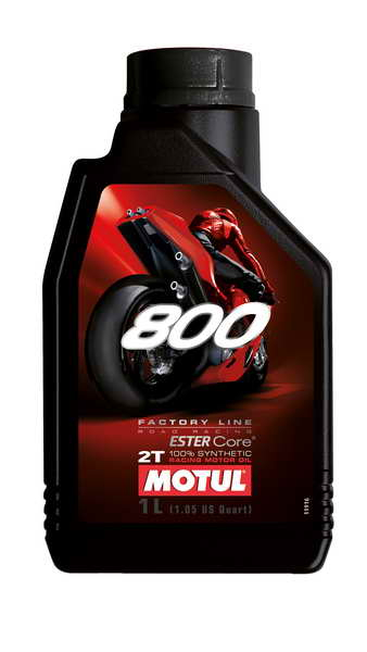 Ulei moto 2T MOTUL 800 Factory Line On Road 1l JASO FD ester sintetic 0
