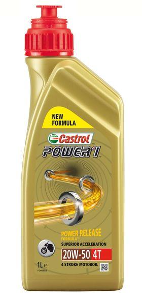 Ulei moto 4T CASTROL Power 1 SAE 20W50 1l SJ JASO MA-2 mineral [0]