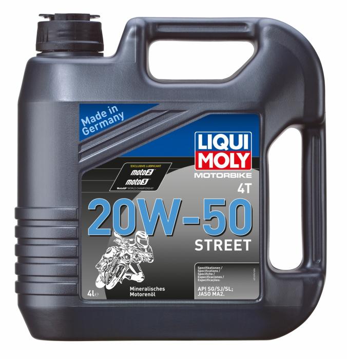 Ulei moto 4T Liqui Moly 4T 20W50 STREET 4L [0]