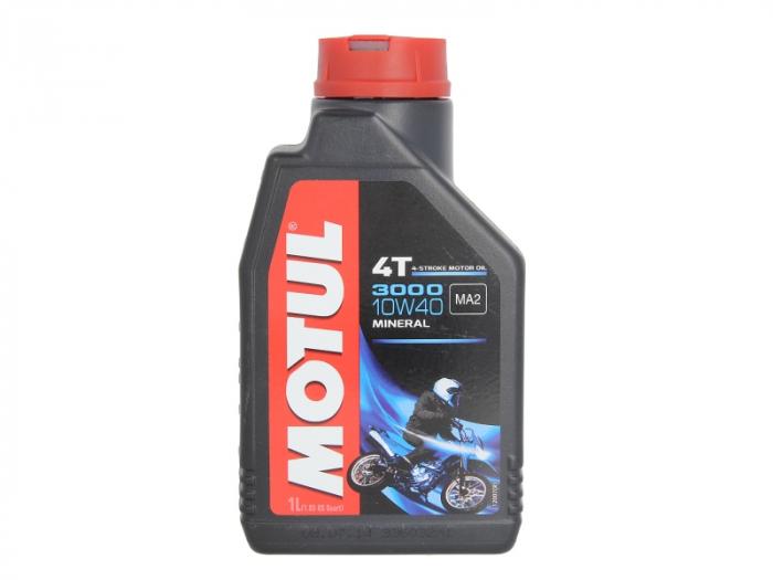Ulei moto 4T MOTUL 3000 SAE 10W40 1l SJ JASO MA-2 mineral 0