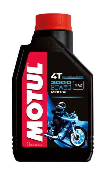 Ulei moto 4T MOTUL 3000 SAE 20W50 1l SJ JASO MA-2 mineral 0