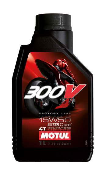 Ulei moto 4T MOTUL 300V Factory Line SAE 15W50 1l  JASO MA2 ester sintetic [0]