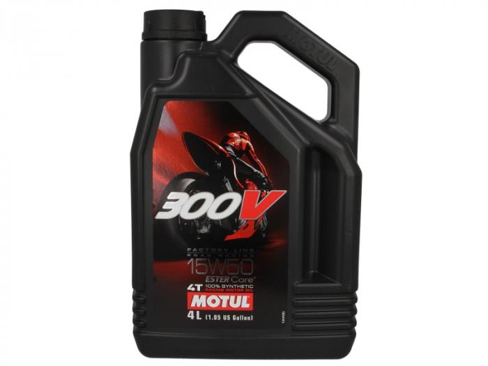 Ulei moto 4T MOTUL 300V Factory Line SAE 15W50 4l  JASO MA2 ester sintetic 0
