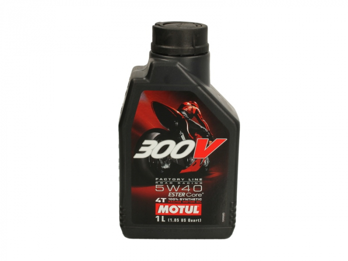 Ulei moto 4T MOTUL 300V Factory Line SAE 5W40 1l  JASO MA2 ester sintetic 0