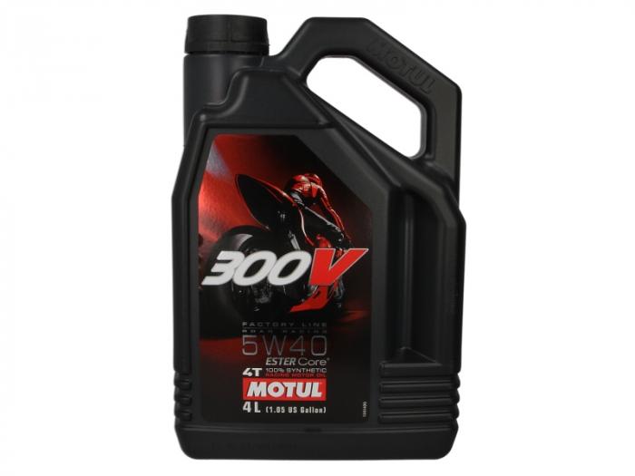 Ulei moto 4T MOTUL 300V Factory Line SAE 5W40 4l  JASO MA2 ester sintetic 0