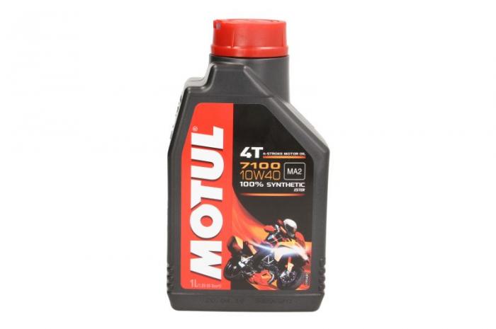 Ulei moto 4T MOTUL 7100 SAE 10W40 1l SN JASO MA-2 ester sintetic 0