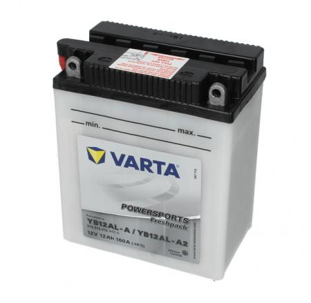 Baterie moto Acid/cu intretinere VARTA 12V 12Ah 160A R+ aerisire stanga 136x82x161 Incarcare uscata cu acid