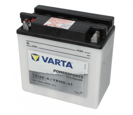 Baterie moto Acid/cu intretinere VARTA 12V 16Ah 200A L+ aerisire stanga 158x89x162 Incarcare uscata cu acid