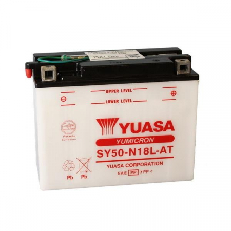 Baterie moto Acid/cu intretinere YUASA 12V 20Ah 240A R+ aerisire stanga 205x90x162 Incarcare uscata fara acid