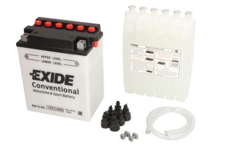 Baterie moto Acid EXIDE 12V 14Ah 145A L+ aerisire dreapta 134x89x166 Incarcare uscata cu acid