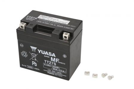 Baterie moto AGM/fara intretinere 12V 6Ah 130A R+ 113x70x105 Incarcare uscata cu acid
