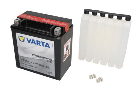 Baterie moto AGM/fara intretinere VARTA 12V 14Ah 210A L+ 150x87x161 Incarcare uscata cu acid