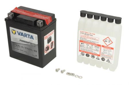 Baterie moto AGM/fara intretinere VARTA 12V 6Ah 100A R+ 114x71x131 Incarcare uscata cu acid