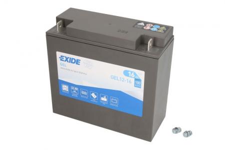 Baterie moto Gel EXIDE 12V 16Ah 100A R+ 180x75x165  GEL12-16