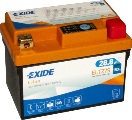 Baterie moto Lithium-ion/fara intretinere EXIDE 12V 28,8Wh 150A R+ 113x70x85  ELTZ7S