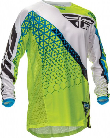 "Bluza FLY KINETIC JERSEY GRN/WHT L ""TRIFECTA"""
