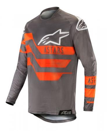 Bluza off-road ALPINESTARS MX RACER FLAGSHIP culoare negru/fluorescent/gri/portocaliu, marime L
