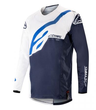 Bluza off-road ALPINESTARS MX TECHSTAR FACTORY culoare albastru navy/alb, marime L