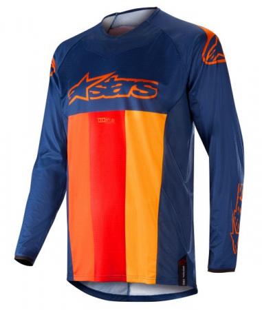 Bluza off-road ALPINESTARS MX TECHSTAR VENOM culoare albastru/portocaliu/rosu, marime S
