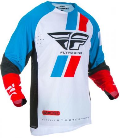 Bluza off-road FLY RACING Evolution DST culoare negru/albastru/rosu, marime 2XL