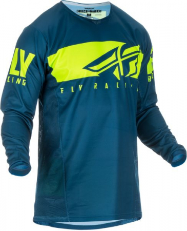 Bluza off-road FLY RACING KINETIC Shield culoare albastru/fluorescent/galben, marime S