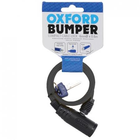 """Cablu cu lacat """"Bumper"""" 600mmx6mm, Fumuriu"""