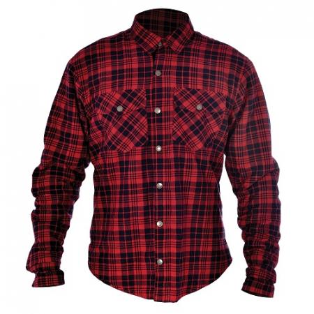 Camasa KICKBACK OXFORD culoare rosu/negru, marime XL