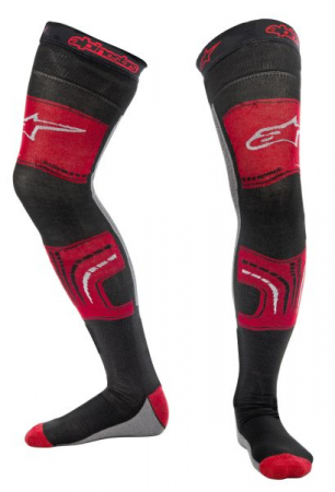 Ciorapi KNEE BRACE ALPINESTARS MX culoare negru/gri/rosu, marime 2XL; L; XL