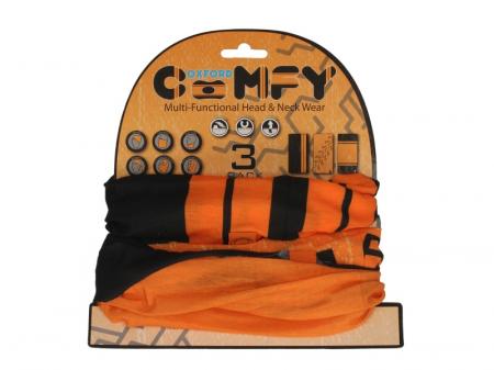 Esarfa OXFORD HD culoare negru/portocaliu, marime OS pachet 3 bucati