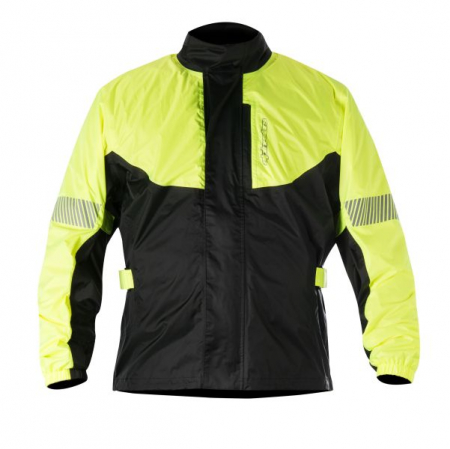 Geaca ploaie ALPINESTARS HURRICANE culoare negru/fluorescent/galben, marime L