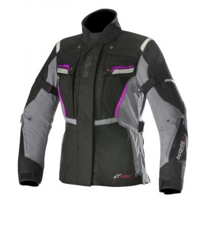 Geaca textil ALPINESTARS STELLA BOGOTA V2 DRYSTAR culoare negru/gri/violet, marime M