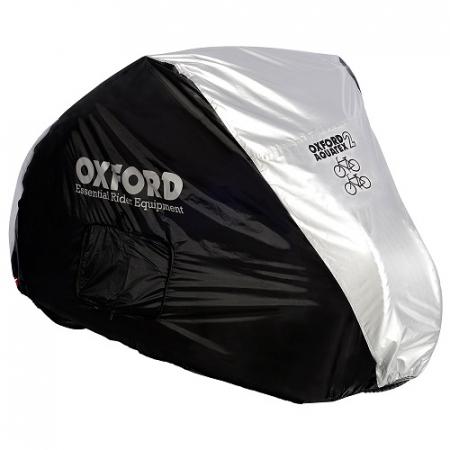 Husa protectie bicicleta OXFORD AQUATEX CC1 culoarea argintiu marimea M doua biciclete impermeabil