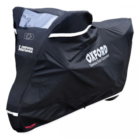 Husa protectie motocicleta OXFORD STORMEX NEW culoare negru, marime S, rezistenta temperaturi inalte