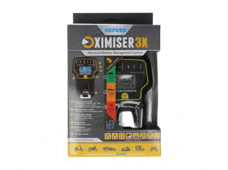 Incarcator baterie moto redresor OXIMISER 3X 12V (pentru toate tipurile de motocicleta si baterii auto cu capacitatea de pana la 125Ah)