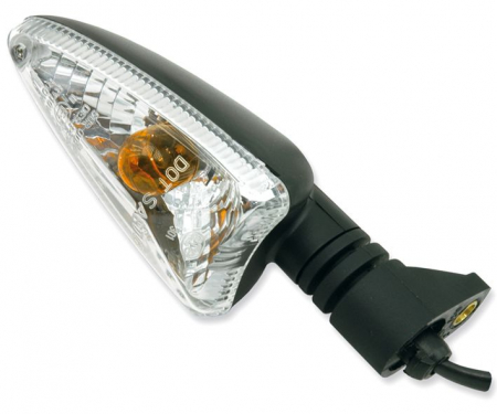 Lampa semnalizare moto fata/spate, stanga/dreapta  (transparent) APRILIA RS4, RSV, RX, RXV, SL, SX; BMW G; DERBI GPR; DUCATI HYPERMOTARD; MOTO MORINI GRANFERRO; TRIUMPH DAYTONA, SPEED TRIPLE, STREET T