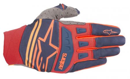 Manusi cross/enduro ALPINESTARS MX TECHSTAR culoare albastru/portocaliu/rosu, marime S