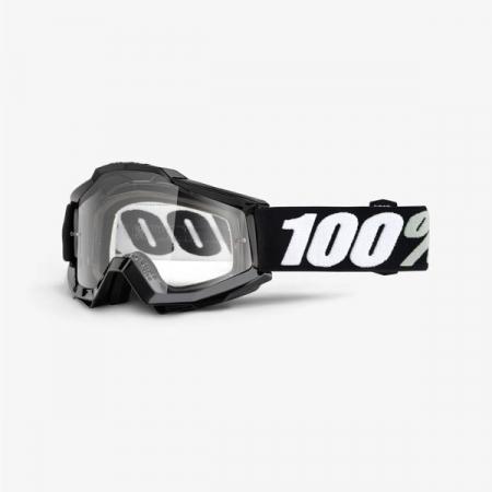 Ochelari Off-road  moto 100% ACCURI OTG Tornado culoare negru/alb, 2 straturi, viziera, transparent