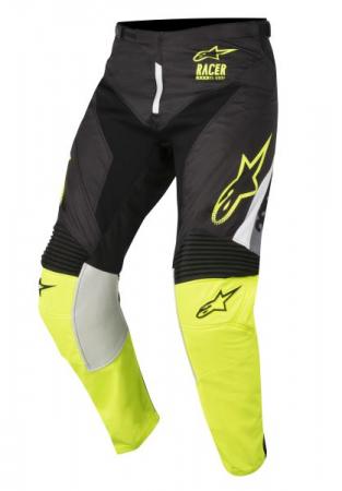 Pantaloni cross/enduro ALPINESTARS MX RACER SUPERMATIC culoare negru/fluorescent/gri/galben, marime 28