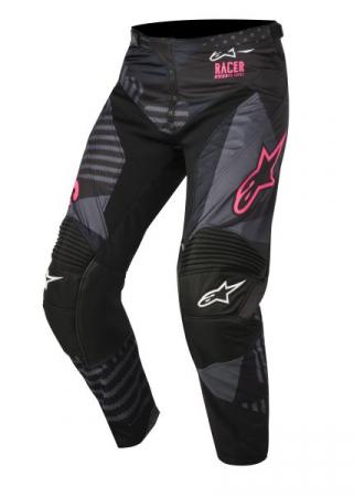 Pantaloni cross/enduro ALPINESTARS MX RACER TACTICAL culoare negru/fluorescent/roz, marime 28