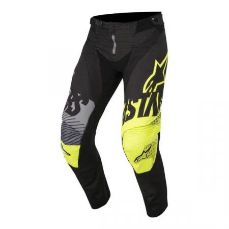 Pantaloni cross/enduro ALPINESTARS MX YOUTH RACER SCREAMER culoare negru/fluorescent/gri/galben, marime 26
