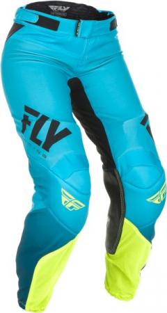 Pantaloni cross/enduro FLY RACING Women's Lite culoare albastru/fluorescent/galben, marime 8/7