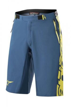 Pantaloni scurti bicicleta ALPINESTARS MESA culoare albastru/galben, marime 34