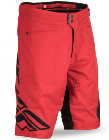 Pantaloni scurti bicicleta FLY RADIUM culoare negru/rosu, marime 32