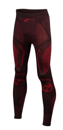 Pantaloni termoactiv ALPINESTARS RIDE TECH SUMMER culoare negru/rosu, marime S/XS