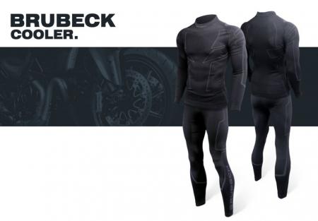 Pantaloni termoactiv BRUBECK COOLER NEW culoare negru, marime 2XL