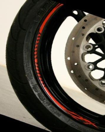 Rim Stripes moto Rosu Model 1